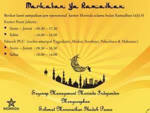 Jam Kerja Ramadhan 1435 H content